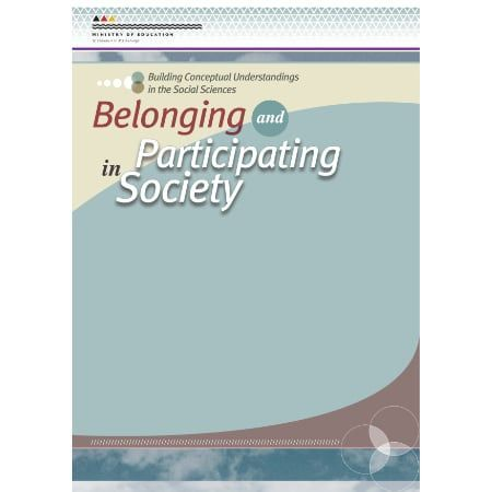 Cover Belonging and participating in society.